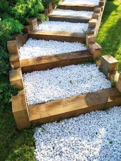 Traverse de chemin de fer ou paysag res pour mon jardin pinterest construction - Traverses de chemin de fer pour jardin ...