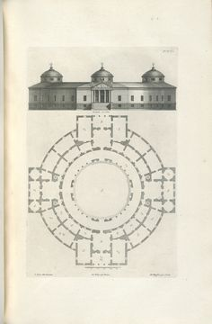 Decorative Arts: The designs of Inigo Jones, consisting of plans and elevations for public and private buildings. Circular Buildings, University Of Wisconsin, Classical Architecture, Taj Mahal, Vintage World Maps, Louvre, Typo, Architects, English