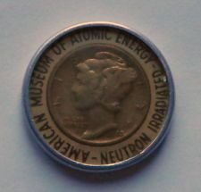1942 Neutron Irradiated Dime from the American Musuem of Atomic Energy