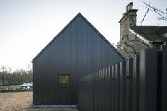 Eastabrook Architects adds corrugated metal extension to Cotswolds cottage The Road, Corrugated Roofing, Corrugated Metal, Cottage Extension, Metal Cladding, Cladding Design, Cottage Windows, Steel Barns, Structural Insulated Panels
