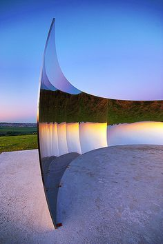 Anish Kapoor C-Curve Carl Abrams The Anish Kapoor C-Curve sculpture is on top of the South Downs overlooking Brighton, as one of the exhibit..