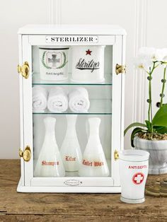 Sterilizer Cabinets and Jars and Bottles - Typography Love!!!