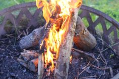 How to Start a Fire in a Fire Pit http://www.ehow.com/how_6356758_start-fire-fire-pit.html