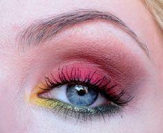 Colorful 'Autumn Leaf' Idea Gallery look created by Edyta using Makeup Geek eyeshadows Appletini, Bada Bing, Bitten, Creme Brûlée, Envy, Mango Tango, Pixie Dust, Razzleberry, and Lemon Drop.