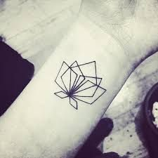geometric lotus flower tattoo - Google Search