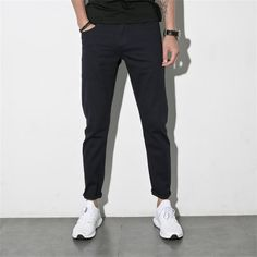 LIGAO Men Casual Jeans Long Straight Pencil Pants Elastic Soft Comfortable Trousers Female Clothing Great For Business 2017 New  #Affiliate