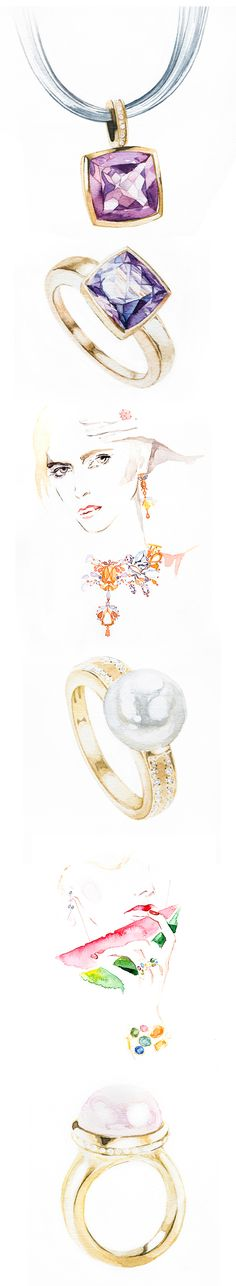 Diamonds are Forever. Watercolor on Illustration Served Diamonds are Forever. Watercolor on Illustration Served The post Diamonds are Forever. Watercolor on Illustration Served appeared first on Ruby Sanders. Jewelry Model, Jewelry Art, Gemstone Jewelry, Fashion Jewelry, Diamond Jewellery, Tiffany Jewelry, Jewelry Design Drawing, Jewelry Illustration, Jewellery Sketches