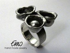 Art Jewelry. Unique handmade ring. Sterling silver. Handmade jewelry.