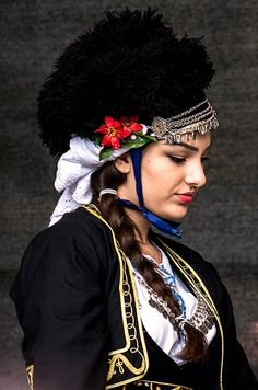 Mediterranean People, Folk Costume, Costumes, Folk Dance, Captain Hat, Traditional, Hats, Greeks, Macedonia