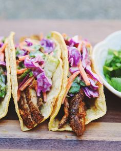 Tandoori Portobello Mushroom Tacos With Lime & Dill Yogurt Sauce [Vegan, Oil-Free, Gluten-Free] — Here Now Nutrition