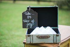 Wedding Ceremony Hankerchiefs For Guests | Rustic Wedding Decor Ideas | Tampa Bay Wedding Photographer Kera Photography