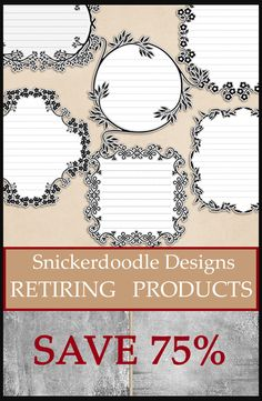 Snickerdoodle Designs is Retiring OVER 50 Digital Scrapbook Commercial Use Tools