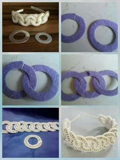 Discover thousands of images about Pearl headband Pearl Headband, Diy Headband, Baby Headbands, Crochet Flower Headbands, Crochet Flowers, Fabric Flowers, Making Hair Bows, Diy Hair Bows, Diy Ribbon