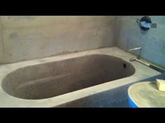 Making a Concrete Bath Tub Part 2- Mold Removal and Finishing - YouTube