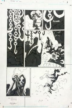 MIKE MIGNOLA - HELLBOY IN HELL # 2 page 17 Comic Art
