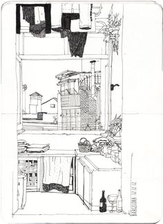 Urban Sketchers: A cold and nice afternoon in Barcelona – Juliana Russo