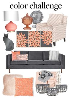 """""""Untitled #402"""" by classyxsassy ❤ liked on Polyvore featuring interior, interiors, interior design, home, home decor, interior decorating, Gus* Modern, Safavieh, Allem Studio and Pillow Decor"""