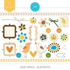Just Smile - Elements: A cheerful collection of embellishments that can be used to highlight your everyday photos.