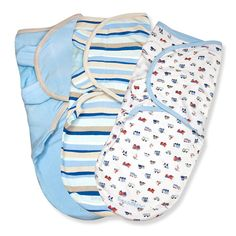 Summer Infant Beep Beep SwaddleMe Cotton 3-Pack