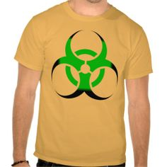 *SOLD* shipping to Tucson, AZ.  Biohazard Symbol Zombie Green and Black T Shirt #Biohazard #Symbol #Zombie #Green #Black #TShirts