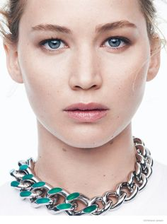 Jennifer Lawrence Stuns in New Dior Photo Shoot Beautiful Natural makeup