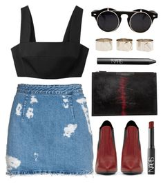 """Untitled #329"" by style-dreams ❤ liked on Polyvore featuring Acne Studios, Balmain, Givenchy, Yves Saint Laurent, NARS Cosmetics and ASOS"