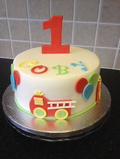 1st Birthday cake to match party decorations