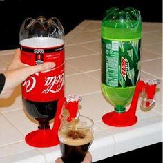 Magic coke bottle dispenser