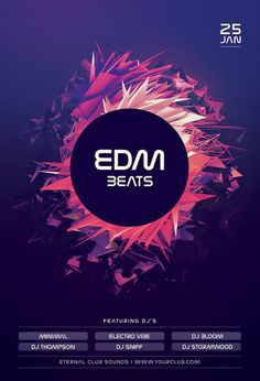 EDM Beats Flyer by styleWish (Buy PSD file $9)