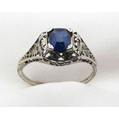 Sapphire engagement ring.  GORGEOUS!