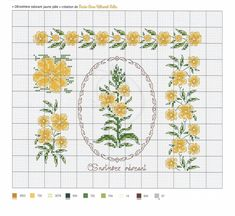 OEnoth+иre odorant jaune p+вle-Marie-Anne R+йthoret-M+йlin Small Cross Stitch, Cross Stitch Rose, Cross Stitch Flowers, Cross Stitch Patterns, Butterfly Embroidery, Flower Frame, Le Point, Needlepoint, Needlework