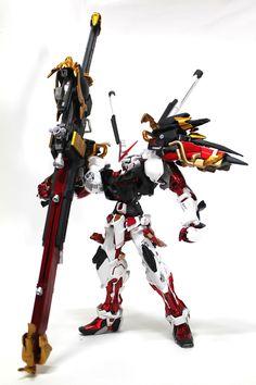 GUNDAM GUY: 1/100 Astray Red Frame Centurion Red - Custom Build