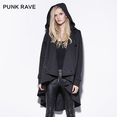 Find More Information about Punk rave Personalized Asymmetrical Medium long with a Hood Sweatshirt Outerwear Female,High Quality sweatshirt beige,China rave glowstick Suppliers, Cheap sweatshirt women from PUNK RAVE & PYON PYON OFFICAL STORE on Aliexpress.com