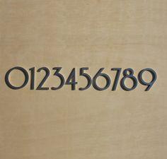 "Modern House Numbers - ""So-Cal"""