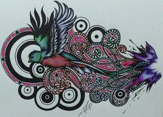 Quetzal Bird Drawing | Lineart's pretty bad, I think, but a bird and its nonsense are not in ...