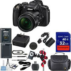 Nikon Coolpix P610 Wi-Fi Digital Camera (Black) + Extra Replacement Battery + Original Nikon Accessories + Extremespeed 32GB Commander Memory + Card Reader + Celltime Starter kit with Cleaning Cloth + Spider Flexible Tripod + Deluxe Carrying Case + 12pc Bundle Kit  Nikon P610 Camera     Extra High Capacity Battery     Extra Rapid Travel Charger     Commander 32GB Memory Card     High Speed Card Reader     Celltime Starter Kit with Cleaning Cloth     Spider Flexible Tripod     Carryin..