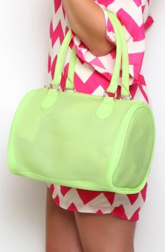 You Had me at Neon Bag in Green