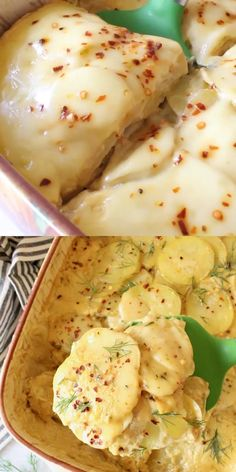Homemade vegan scalloped potatoes from scratch, made with cashews, nutritional yeast and a few other spices. Easy, creamy comfort food ready in less than 1 hour, NO Dairy, oil-free + It's gluten-free! Vegan Scalloped Potatoes, Scalloped Potato Recipes, Vegan Vegetarian, Vegetarian Recipes, Healthy Recipes, Vegan Raw, Veggie Recipes, Lunch Recipes, Plant Based Recipes