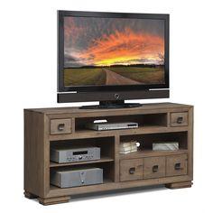 "Entertainment Furniture - Mesa 64"" TV Stand - Distressed Pine"