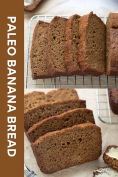 Paleo banana bread is easy to make and has delicious flavor and texture. It's grain and dairy-free! Make this recipe for a breakfast treat or healthy snack.