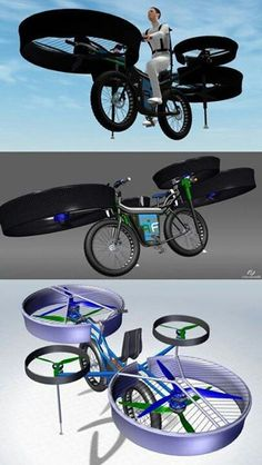 10 Tech This Week [PICS] Helicopter Bike // This crazy thing is reportedly real, set to roll out at an engineering fair in September.Helicopter Bike // This crazy thing is reportedly real, set to roll out at an engineering fair in September. Futuristic Technology, Technology Gadgets, Science And Technology, Electronics Gadgets, High Tech Gadgets, Futuristic Design, Technology Design, Drones, E Mobility