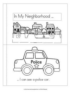 "Community Helpers Transportation Vehicles Emergent Reader This ""predictable-style"" emergent reader is about vehicles that we might see in our neighborhood. It is a small sample from a GIANT mega-pack of color and b/w printables pages!) to complement your Community Helpers Kindergarten, Kindergarten Social Studies, School Community, Kindergarten Literacy, Preschool Activities, Space Activities, Preschool Plans, Community Activities, Literacy Skills"