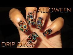 Halloween Drip Drop Manicure | DIY Nail Art Tutorial - YouTube