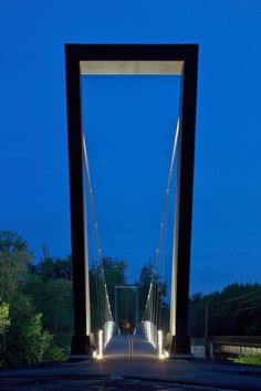 Suspended Float - Cycle Bridge, City of Amstetten, Austria by ARCH+MORE ZT Architects