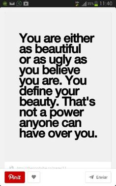 You define your beauty