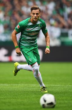 Robert Bauer of Bremen in action during the Bundesliga match between Werder…