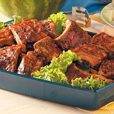Calgary Stampede Ribs-W are not big rib eaters but I thought they sounded good so we tried this recipe-def. not disappointed-way awesome and worth the work (not much involved) and the wait. Highly recommend trying these.