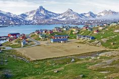This is real. A pitch in a splendid location in Greenland.