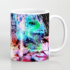 Cavern in Greece Coffee Mug by azima Tote Bags, Boho, New Age, Summer Of Love, Greece, Coffee Mugs, Tableware, Art Deco, Inspiration