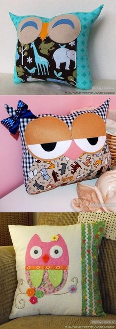 Funny pillow sovushki. Ideas for inspiration.